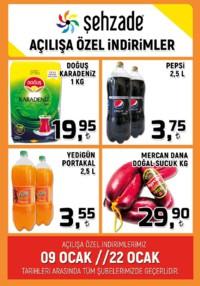 Şehzade Market 09 - 22 Ocak 2019 Kampanya Broşürü! Sayfa 1