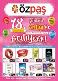 Özpaş Market 22 Ocak - 06 Şubat 2019 Kampanya Broşürü! Sayfa 1