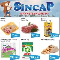Sincap Marketler Zinciri 19 - 20 Ocak 2019 Hafta Sonu İndirimleri Sayfa 1