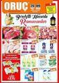 Oruç Market 26 Nisan - 09 Mayıs 2019 Bostancı , Pendik, Ataşehir Mağazaları Ramazana Özel Broşür Sayfa 1