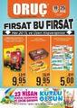 Oruç Market 19 - 25 Nisan 2019 Kampanya Broşürü! Sayfa 1