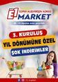 E1-Market 08 - 16 Ağustos 2020 Kampanya Broşürü! Sayfa 1 Önizlemesi