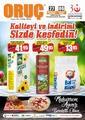 Oruç Market 27 Ağustos - 06 Eylül 2020 Kampanya Broşürü! Sayfa 1