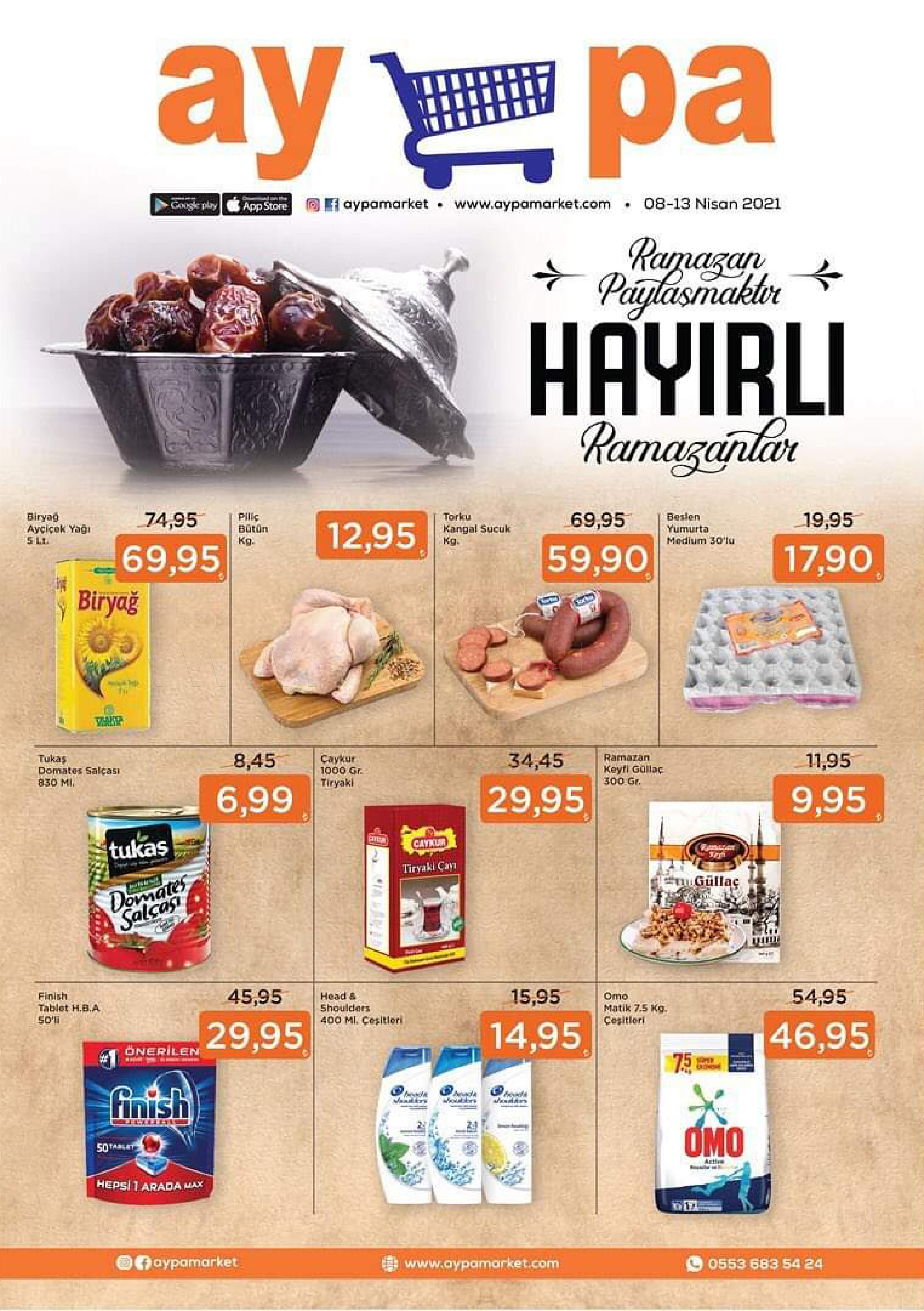 Aypa Market 08 - 13 Nisan 2021 Kampanya Broşürü! Sayfa 1
